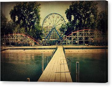 Roller Coaster Canvas Print - Arnolds Park by Julie Hamilton