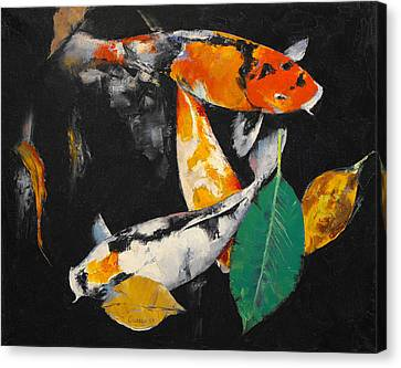 Coy Canvas Print - Around And About by Michael Creese