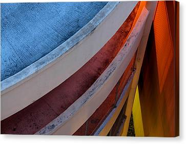 Canvas Print featuring the photograph Around And Down by Greg Allore