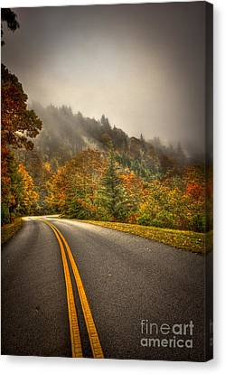 Around The Bend Clouds Along The Blue Ridge Parkway Canvas Print