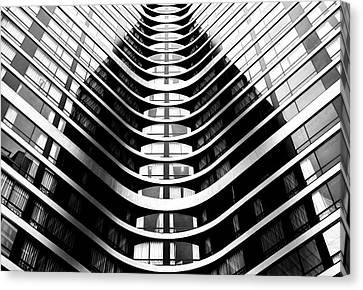 Curtains Canvas Print - Around The Corner by Hans-wolfgang Hawerkamp