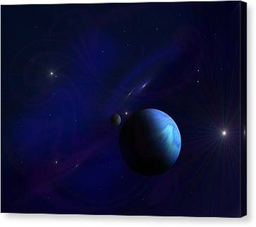 Around The Cosmos Canvas Print by Ricky Haug