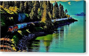 Around The Lake Canvas Print