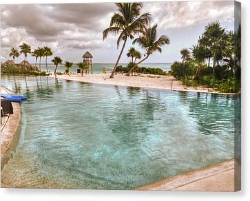 Around The Pool-waiting For The Storm Canvas Print by Eti Reid