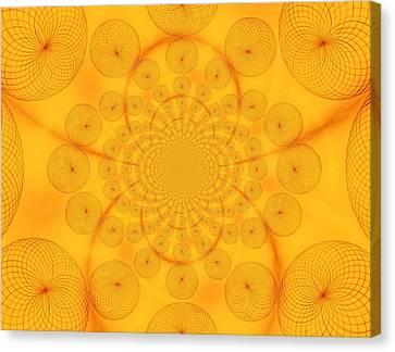 Around The Sun-abstract Circles Canvas Print