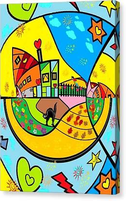 Around The World By Nico Bielow Canvas Print