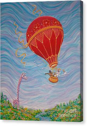 Canvas Print featuring the painting Around The World by Dee Davis