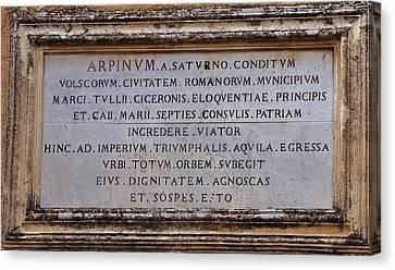 Arpinium Canvas Print