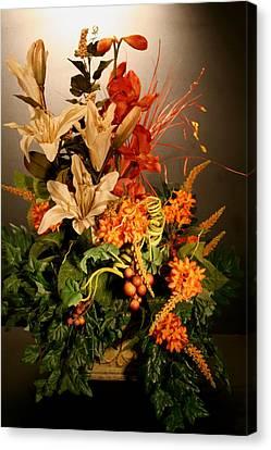 Arrangement Of Flowers Canvas Print by Diane Merkle