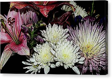 Array Of Flowers Canvas Print by Kathleen Struckle