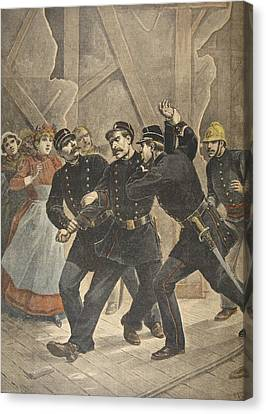 Arrest Of A Town Sergent, Illustration Canvas Print by French School