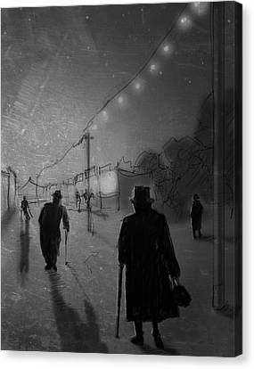 Creepy Canvas Print - Arrivals by H James Hoff