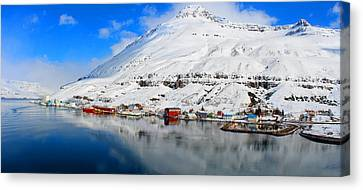 Arriving At Seydisfjordur East Fjords Iceland Canvas Print