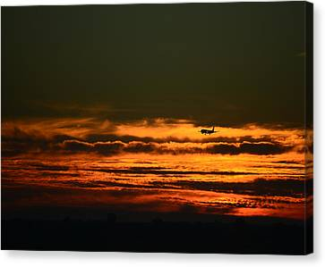 Arriving Canvas Print