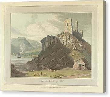 Arros Castle On The Isle Of Mull Canvas Print by British Library