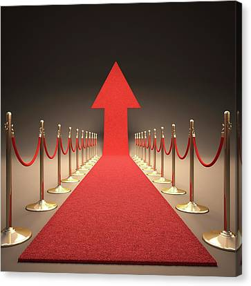 Arrow And Red Carpet Canvas Print