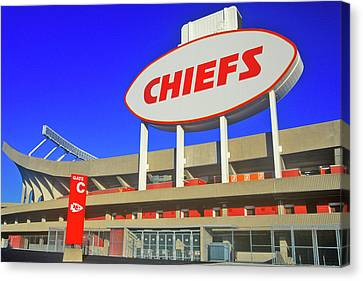 Arrowhead Stadium, Home Of The Kansas Canvas Print