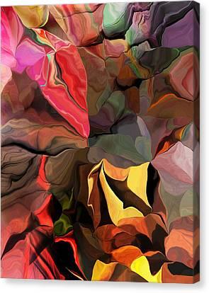 Canvas Print featuring the digital art Arroyo  by David Lane
