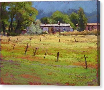 Arroyo Hondo Canvas Print by Sarah Blumenschein