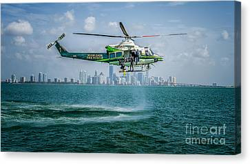 Ars And Miami Canvas Print by Scott Mullin