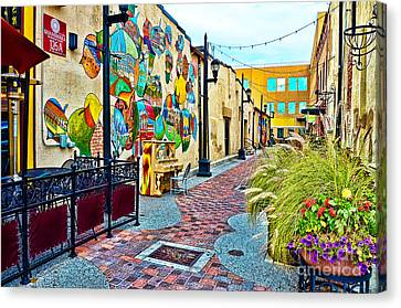 Art Alley Canvas Print by Keith Ducker