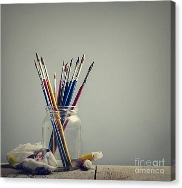 Art Brushes Canvas Print by Jelena Jovanovic