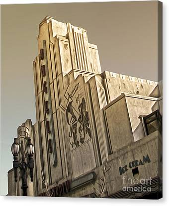 Art Deco Building Canvas Print by Gregory Dyer