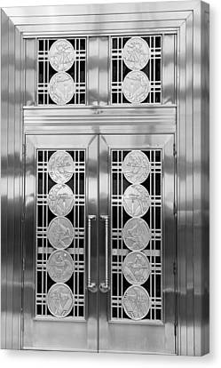 Art Deco Door 2 Canvas Print by Andrew Fare