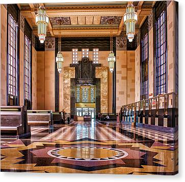 Art Deco Great Hall #1 Canvas Print by Nikolyn McDonald