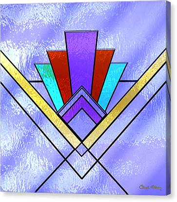 Art Deco - Pattern 3 - Chuck Staley Canvas Print by Chuck Staley