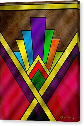 Art Deco Pattern 7v Canvas Print by Chuck Staley