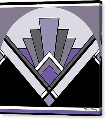 Art Deco Pattern Two - Purple Canvas Print by Chuck Staley