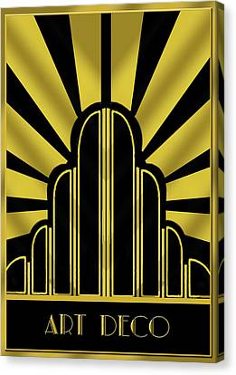 Art Deco Poster - Title Canvas Print by Chuck Staley