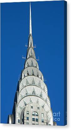 Art Deco Skyscraper - The Chrysler Building Canvas Print by Emmy Vickers