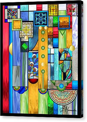 frank lloyd wright canvas print art deco stained glass 1 by ellen henneke