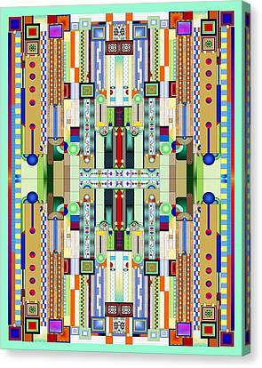 Stained Glass Canvas Print - Art Deco Stained Glass 2 by Ellen Henneke