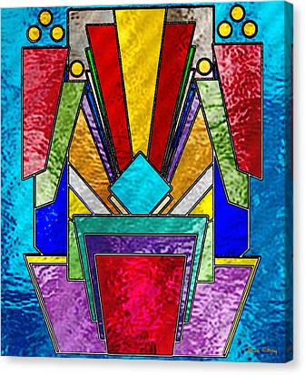 Art Deco - Stained Glass 6 Canvas Print by Chuck Staley