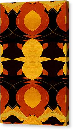 Art Deco Two - Abstract Art Canvas Print by Ann Powell