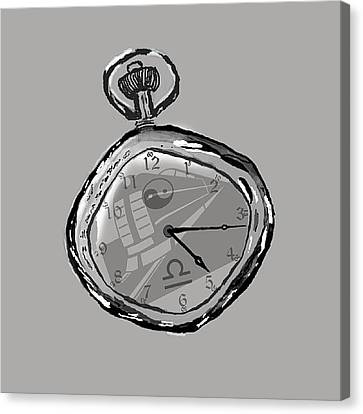 Steampunk Canvas Print - The Watch by Andrew Morican