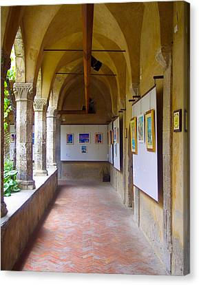 Art Gallery In A Monastery Canvas Print by David Nichols