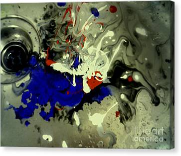 Art In A Sink Canvas Print by Kelly Awad