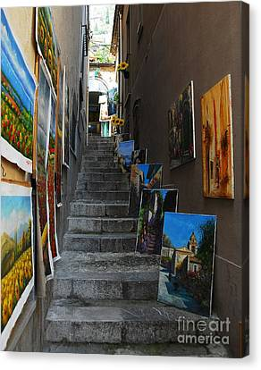 Art In An Alley Canvas Print