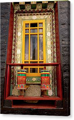 Art In Buddhist Monastery Architecture Canvas Print