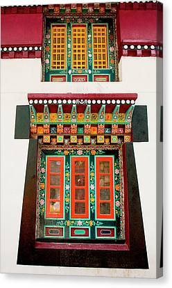 Art In Monastery Architecture, Sikkim Canvas Print