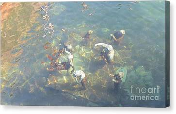 Art In Sea Canvas Print by Susanne Baumann