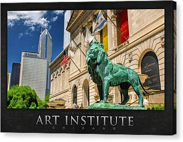 Art Institute In Chicago Poster Canvas Print