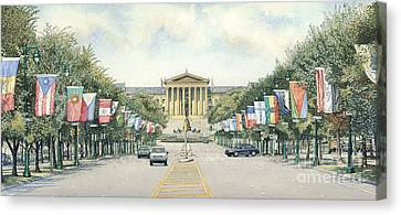 Art Museum  Canvas Print by Keith Mountford