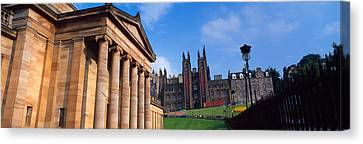 Art Museum With Free Church Of Scotland Canvas Print by Panoramic Images