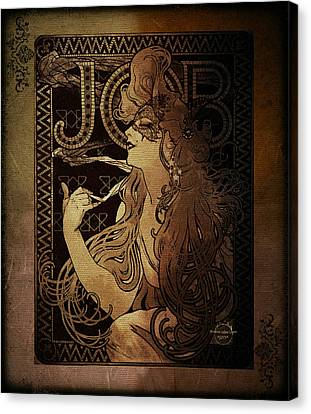 Art Nouveau Job - Masquerade Canvas Print by Absinthe Art By Michelle LeAnn Scott
