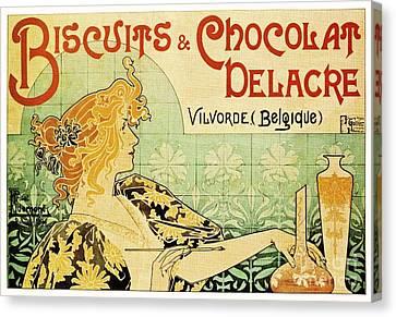 Art Nouveau Canvas Print by Pg Reproductions